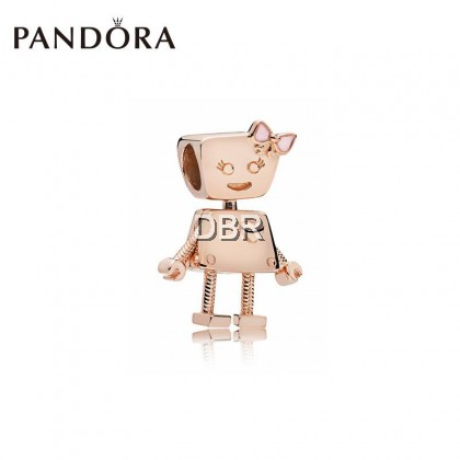 PANDOR ARose Gold Little Bella Silver String Ornaments 787141EN160 Movable Cute DIY Beads