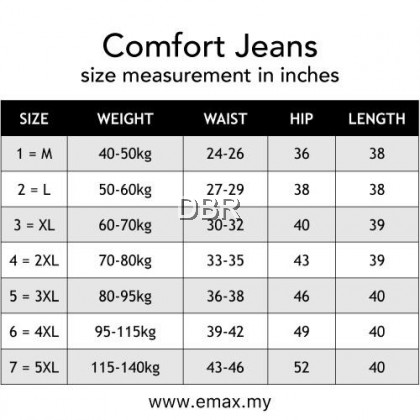 Seluar Jeans Ladies Jeans Women Denim Plus Size Stretchable Muslimah