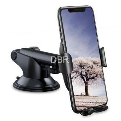 Baseus Sucker Gravity Car Mount Phone Holder Wireless Charger (BLACK)