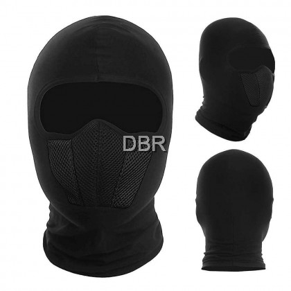 WOSAWE Windproof Dustproof Full Face Mask Balaclava Hood Helmet Liner for Cycling Motorcycle Outdoor Sports (black)